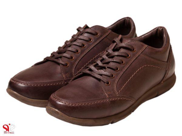 مدل کفش اسپرت پسرانه قهوه ای بنددار مدل اروین سی سی
