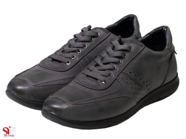 عکس مدل کفش اسپرت پسرانه رنگ طوسی مدل اتوکس سی سی