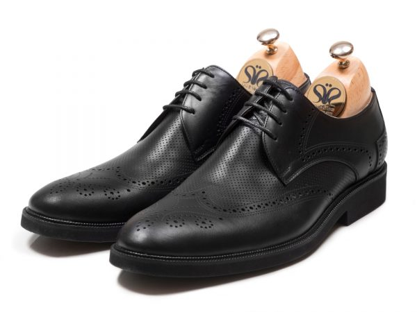 عکس مدل کفش چرم مدل بتا مشکی - کفش مجلسی مردانه