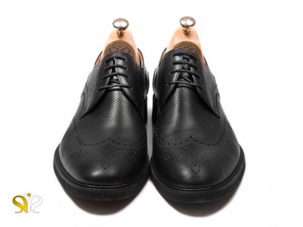 کفش مردانه چرمی مدل بتا رنگ مشکی - کفش سی سی