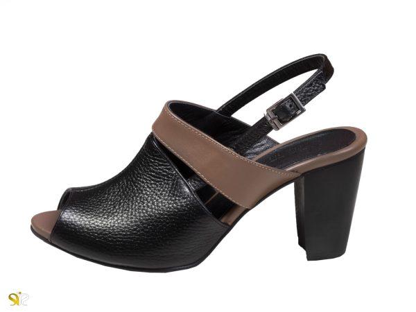 مدل کفش پاشنه دار جلوباز زنانه پینتا رنگ مشکی - کفش تبریز
