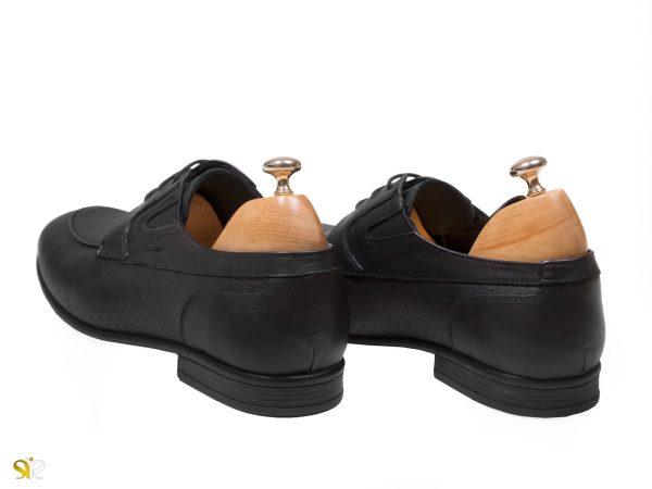 کفش رسمی مردانه مدل آرمان بنددار رنگ مشکی - کفش تبریز