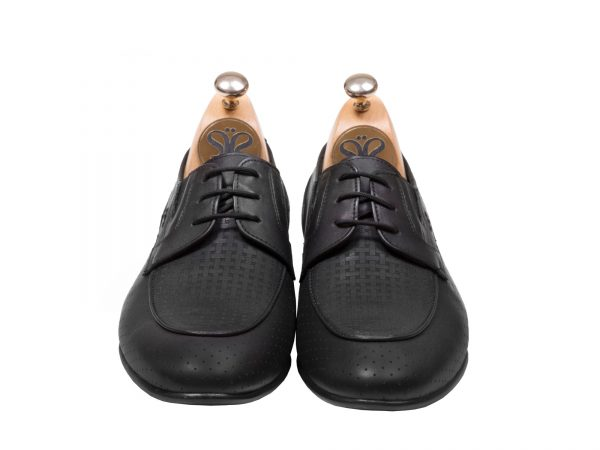 کفش سی سی مدل آرمان بنددار رنگ مشکی - کفش تبریز