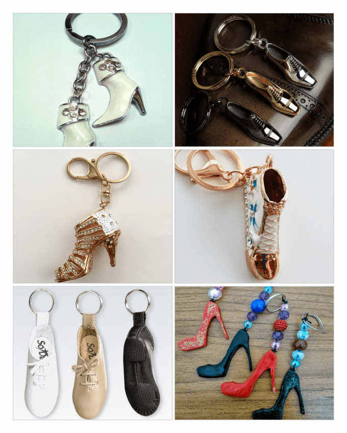 انواع مدل جا کلیدی، در طرح هایی از کفش (Shoes keychains)