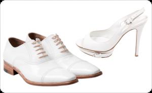 مدل انواع کفش های چرمی زنانه و مردانه با پستایی (Uppers) سفید