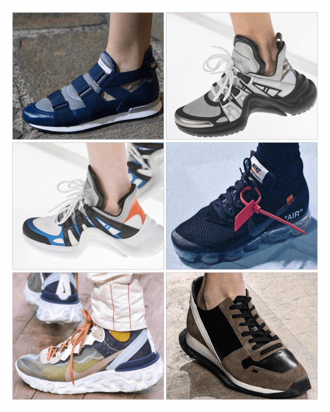 مدل کفش های شهری و ورزشی (Sneakers) زنانه در سال 2018