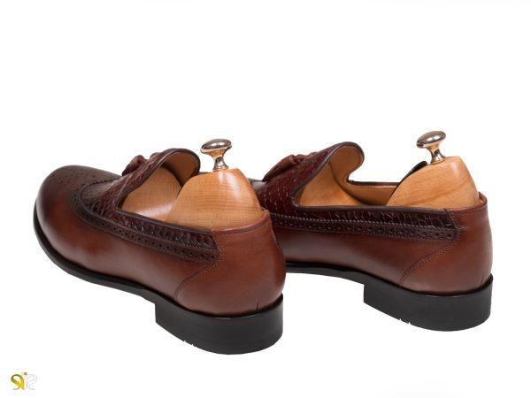 پاشنه چوبی کفش مجلسی مردانه مدل آریو - کفش سی سی