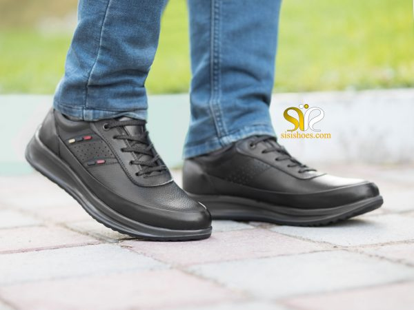 کفش اسنیکر سی سی مدل کراس مشکی بنددار - کفش اسپرت پسرانه