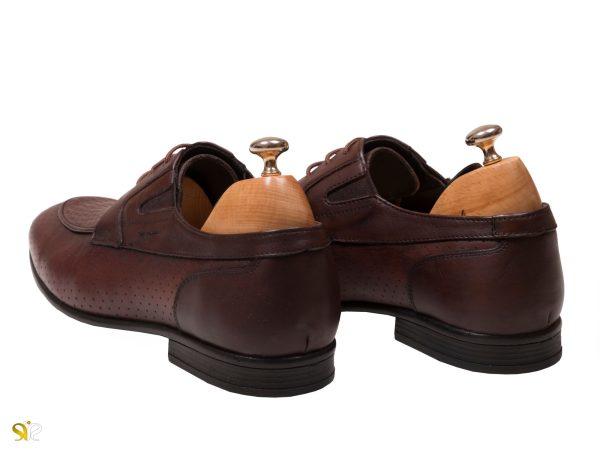 کفش رسمی مردانه چرم مدل آرمان رنگ قهوه ای - کفش تبریز