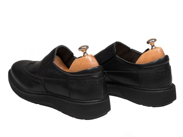 کفش طبی مردانه مدل پاما رنگ مشکی - کفش تبریز