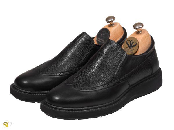 کفش مردانه کلاسیک اسپرت مدل پاما بی بند - رنگ مشکی - کفش تبریز