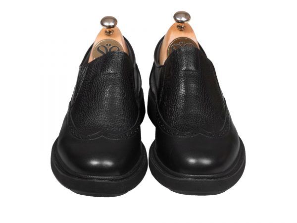 کفش کلاسیک اسپرت مردانه مدل پاما رنگ مشکی بی بند - کفش سی سی