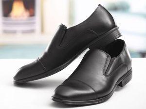 کفش چرمی مردانه با طرح یکنواخت