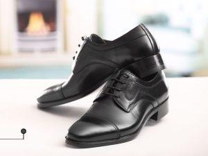کفش مردانه چرمی با طرح کلاسیک ساده مشکی