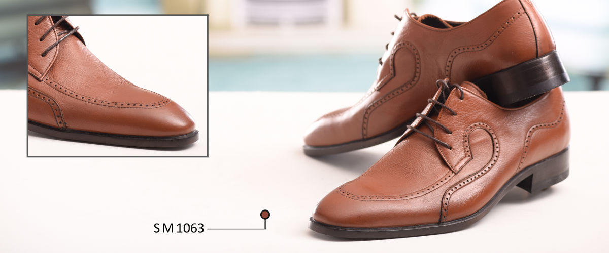 کفش چرمی مردانه دست دوز با زیره چرمی گاو میش
