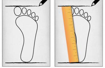 اندازه گیزی سایز کفش مناسب برای خرید اینترنتی