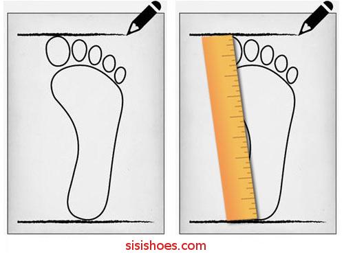 برای خرید اینترنتی کفش، چگونه باید سایز پا را اندازه گیری کنیم؟