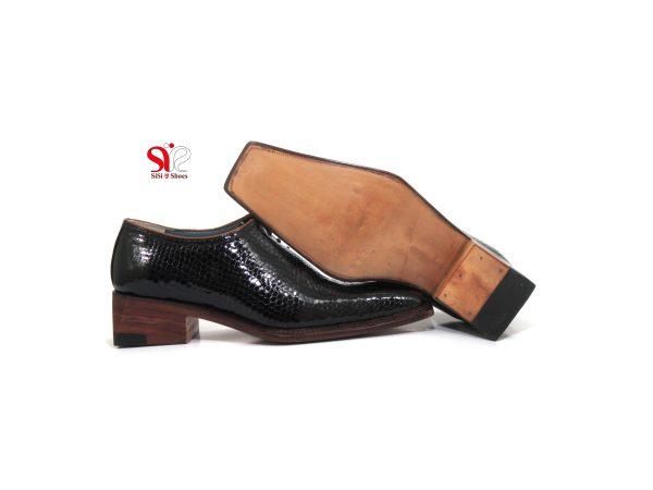 کفش مردانه چرمی با زیره چرمی سی سی