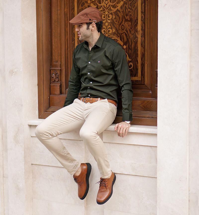 ست کردن کفش چرمی مردانه سی سی با شلوار کتان