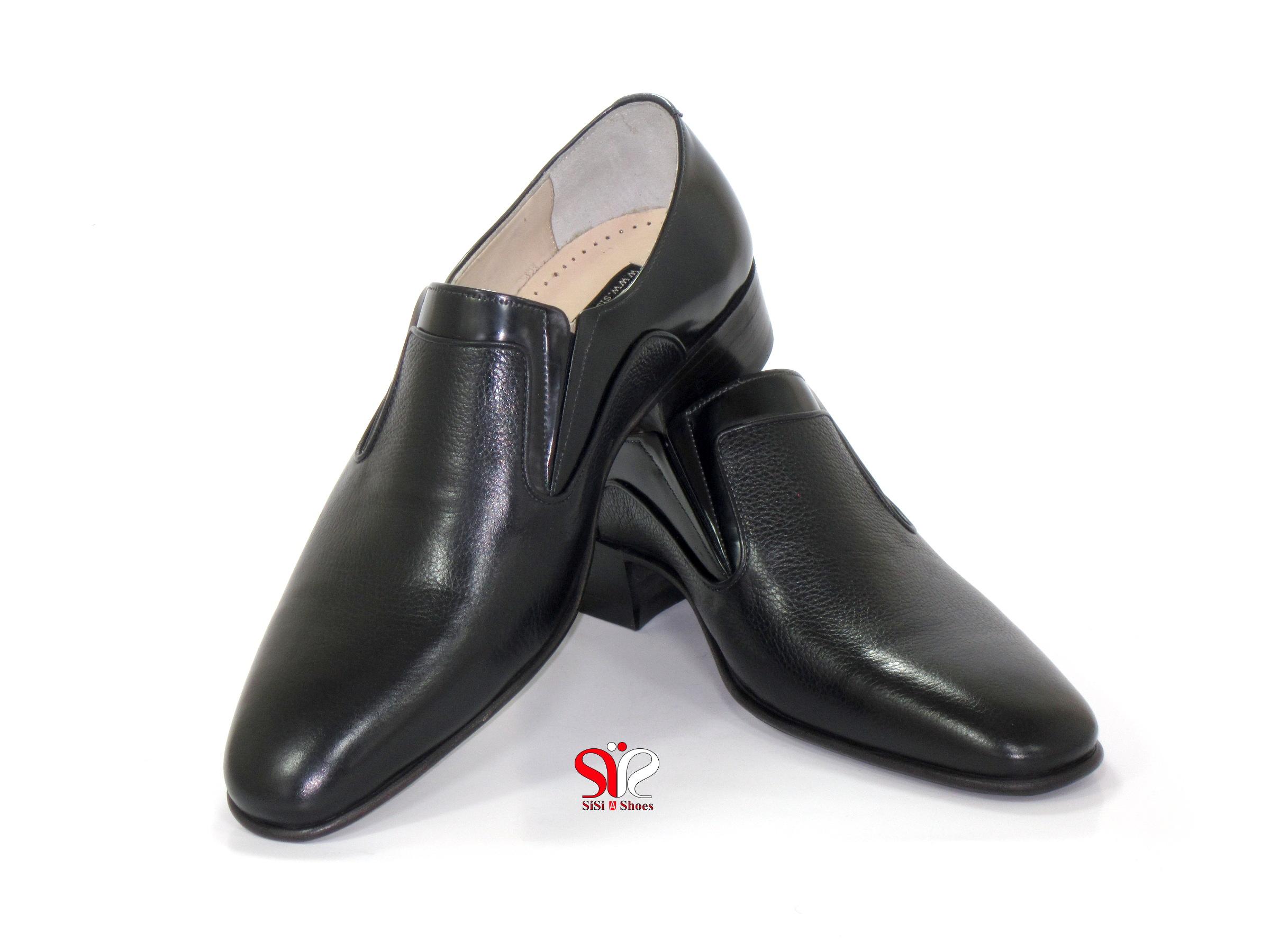 کفش مردانه با چرم شرانگ طرح اصیل تبریز