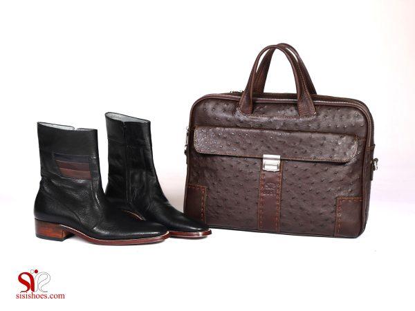 کیف و کفش چرمی ست