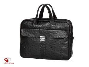 کیف با چرم شترمرغ
