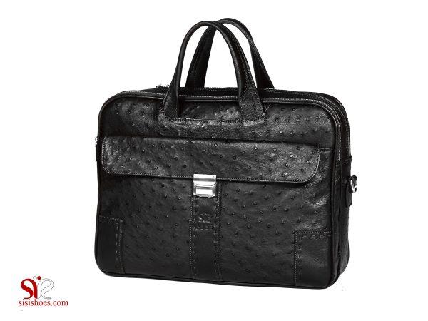 کیف چرمی لپ تاپ رنگ مشکی