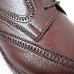 چرم زرشکی کفش مردانه