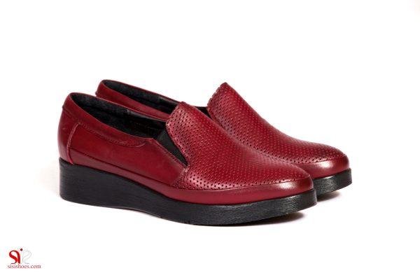 کفش چرم زنانه طبی با کفی طبی