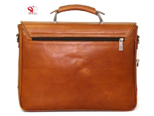 کیف ساده چرم رسمی رنگ قهوه ای