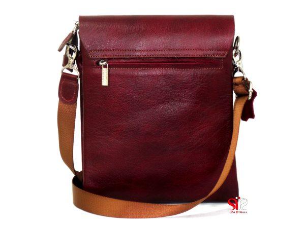 کیف دوشی چرمی با بند بلند