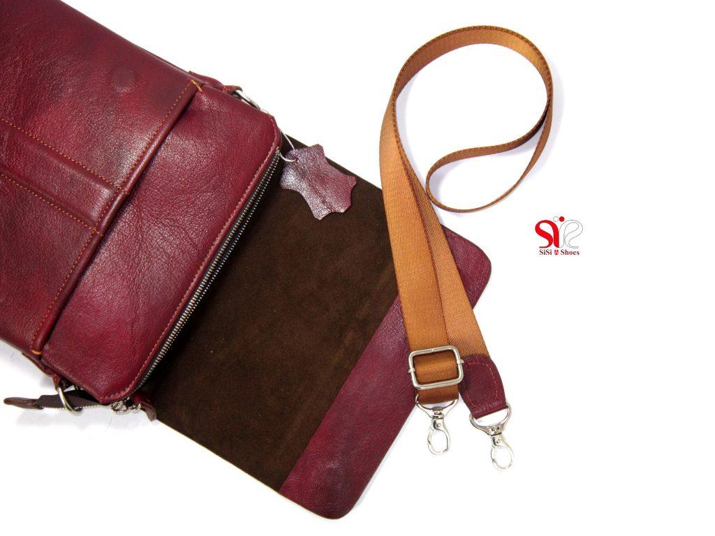 کیف چرمی رو دوشی محصولی از سی سی sisi shoes