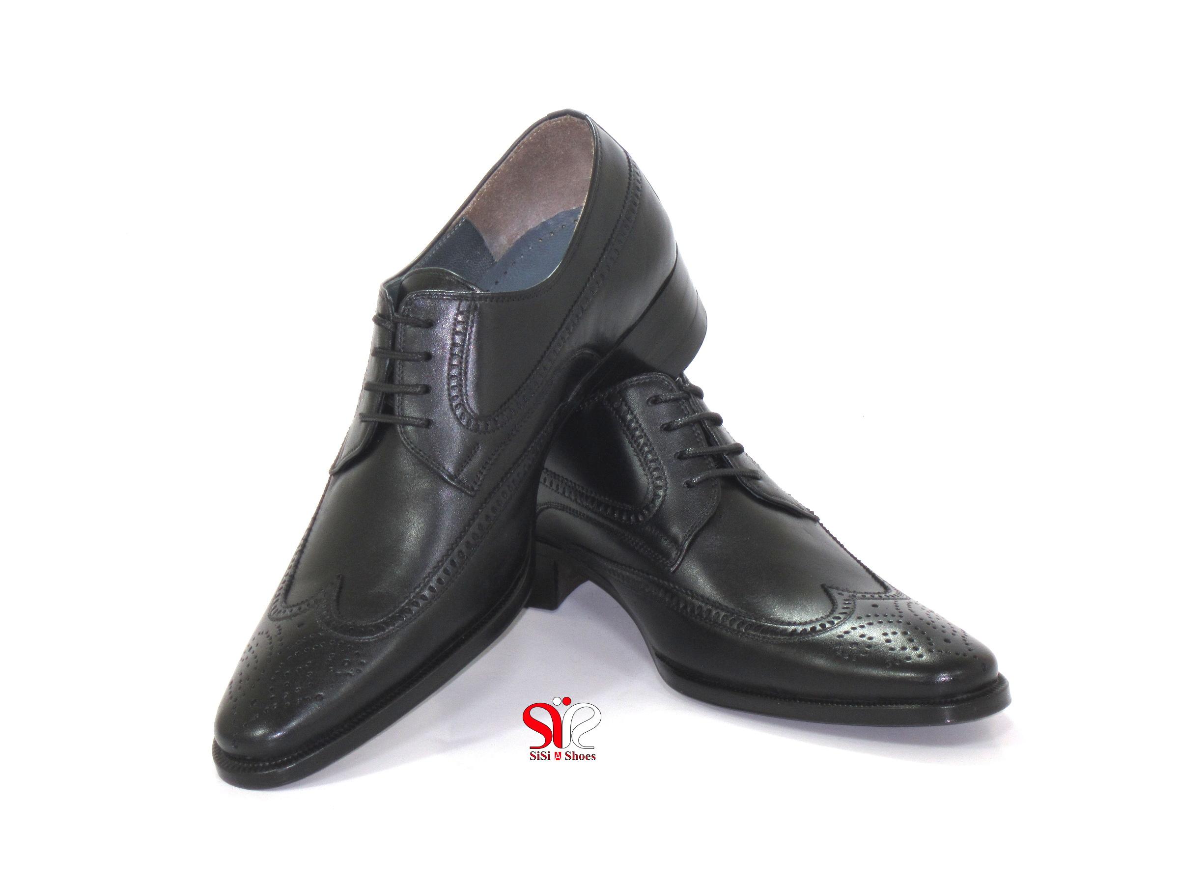 کفش مردانه هشت ترگ چرمی مدل اشکی