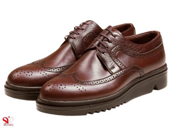 عکس مدل کفش نیمه اسپرت مردانه رنگ قهوه ای نیومن