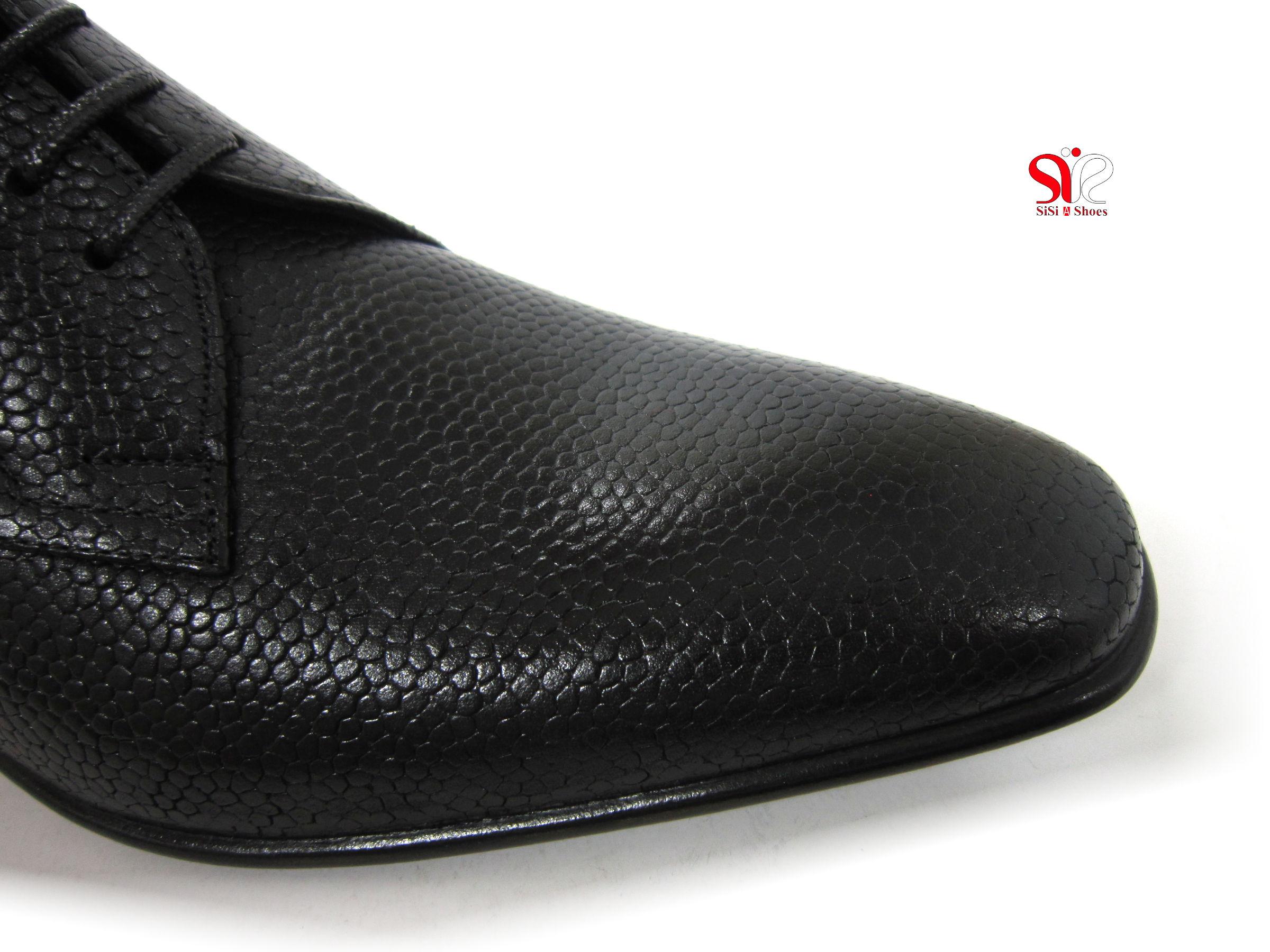 پنجه کفش مردانه رسمی آسپینا با چرم ایتالیایی - کفش سی سی تبریز - tabriz handmade shoes