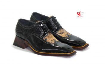 کفش دستدوز مردانه مدل رایکارد - دوخت به صورت سفارشی با پاشنه مخفی برای افزایش قد - sisi shoes