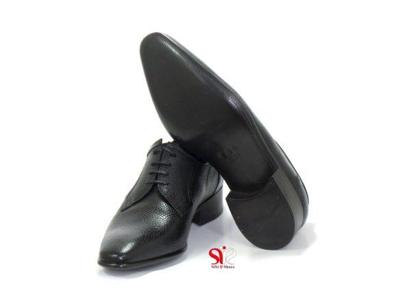 کفش مردانه مجلسی ساده با زیره چرم طیعی گاو میش و رویه چرم ایتالیاننی