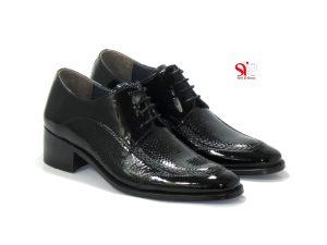 کفش دامادی مردانه مدل ورنادو با دوخت اختصاصی و پاشنه مخفی