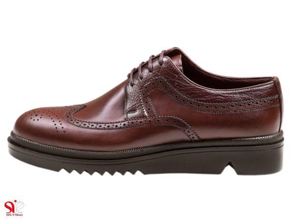 کفش مردانه چرمی مدل نیومن رنگ قهوه ای