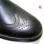 پنجه گرد و طرح دار کفش مردانه چرمی مدل نیومن