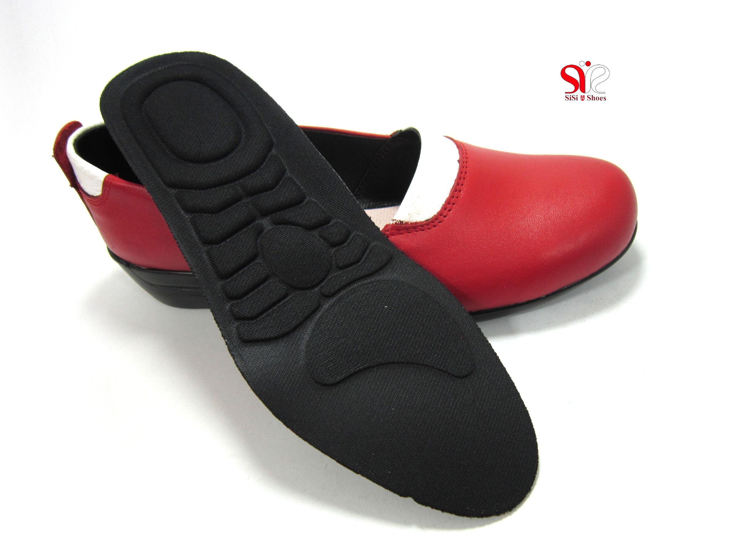 کف طبی و قابل تعویض کفش زنانه مدل آدریانا رنگ قرمز - کفش زنانه سی سی