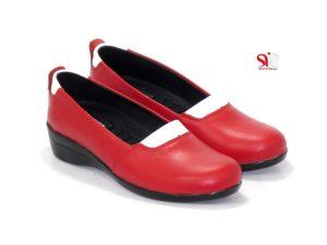 کفش طبی زنانه مدل آدریانا رنگ قرمز با پاشنه قابل جداشدن - کفش زنانه سی سی