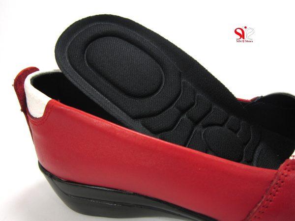 کف طبی قابل تعویض کفش طبی زنانه مدل آدریانا رنگ قرمز - کفش زنانه سی سی