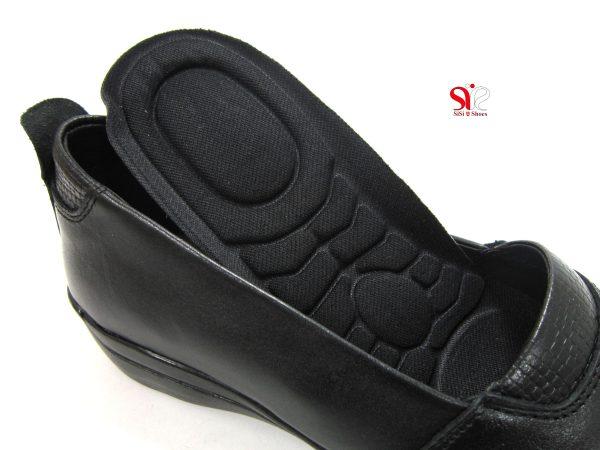 کف طبی و قابل تعویض کفش زنانه مدل آدریانا رنگ مشکی - کفش زنانه سی سی