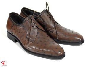 عکس مدل کفش مردانه با چرم شترمرغ مدل الماس