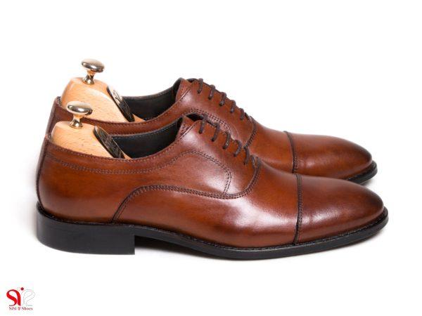 مدل کفش مردانه چرم مجلسی اسپرت مدل فورد بورنیش رنگ عسلی