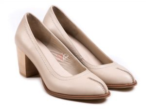کفش زنانه مدل رکسی رنگ کرم