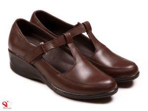 کفش زنانه مدل پرین رنگ قهوه ای
