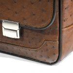 کیف چرم مدل رابرتو با قفل فلزی رمزدار