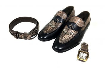ست کفش و کمربند و ساعت مجلسی مردانه سی سی